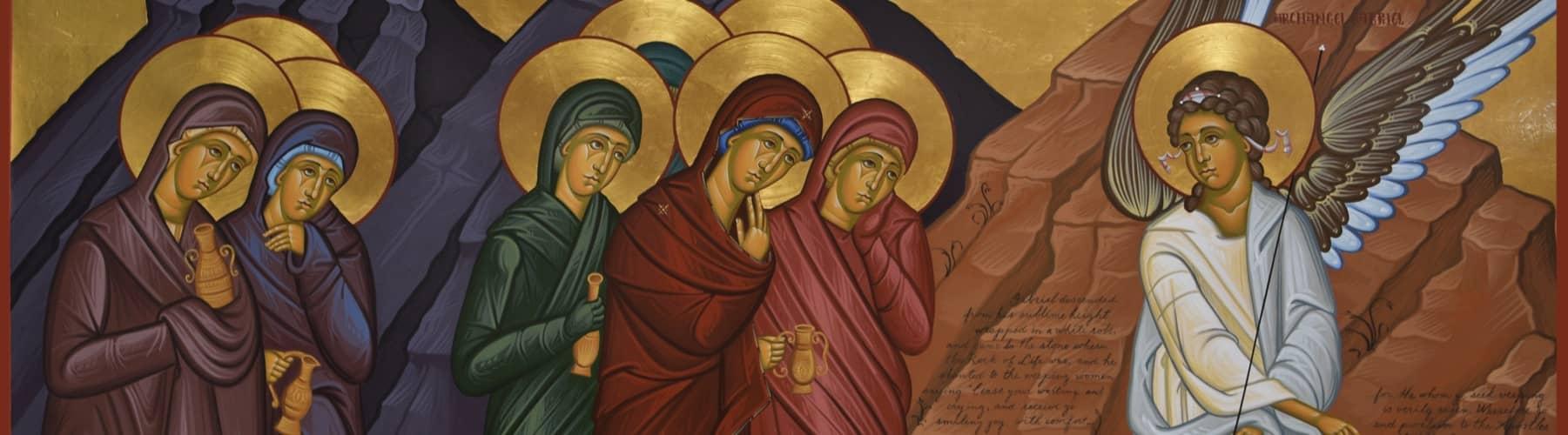 Myrrh Bearers at the Empty Tomb